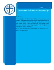 Letter from the Principal (for the Day!) - St. Joseph Catholic Faith ...