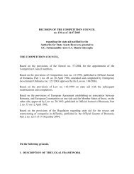 DECISION OF THE COMPETITION COUNCIL no. 130 as of 14.07 ...