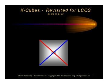 X-Cubes - Revisited for LCOS - SID