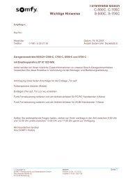 Torantriebe Bosch Wichtige Hinweise - Somfy
