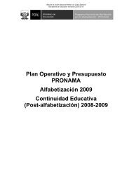 Plan Operativo Alfabetización (2009)