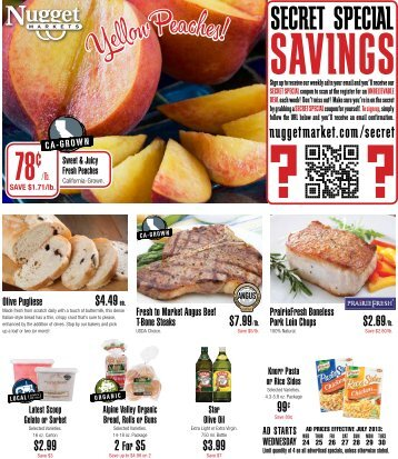 Download a PDF version of our print ad - Nugget Market