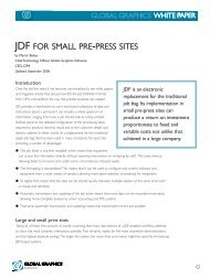 JDF for small pre-press sites - Global Graphics