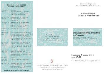 Concerto 03. 03.2013.pdf - Comune di Reggio Emilia