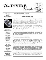 March 2006 Newsletter - Great Lakes Cobra Club