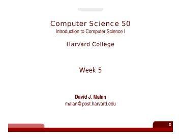 Computer Science 50 Week 5