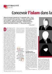 Concevoir l'islam dans la laïcité - Ligue des droits de l'Homme