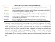 California Physical Education Content Standards Grade 6