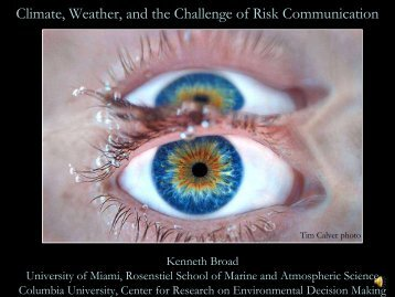 Climate, Weather and the Challenge of Risk Communication (Broad)
