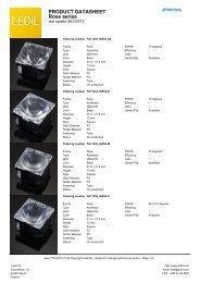 PRODUCT DATASHEET Rose series - LEDS.de