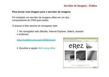 Servidor de Imagens Servidor de Imagens - Prática - Gbif.es