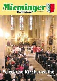 Feierliche Kirchenweihe - Gemeinde Mieming - Land Tirol