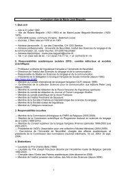 Curriculum vitae de Marie-José Béguelin 1. État civil - Université de ...