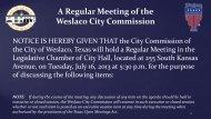 2. Agenda, July 16, 2013 - City of Weslaco