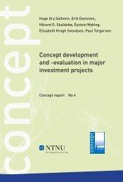 Concept development and -evaluation in major ... - Concept - NTNU