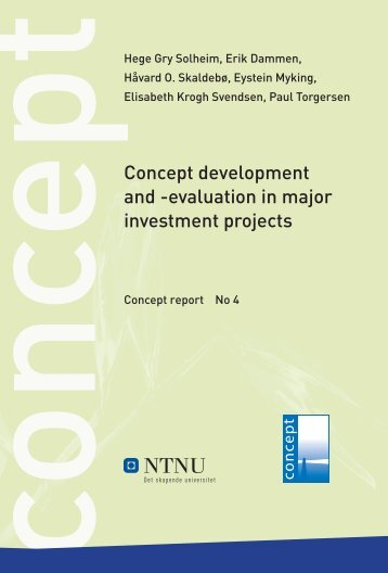 Concept development and -evaluation in major ... - Concept - NTNU