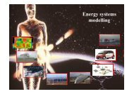 Energy systems modelling