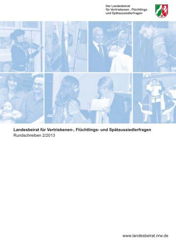 Rundschreiben 2/2013 - Landesbeirat für Vertriebenen-, Flüchtlings ...