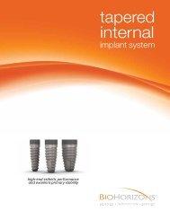 Tapered Internal Dental Implant Catalog - BioHorizons