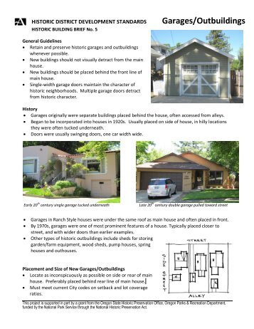 Garages/Outbuildings - City of Ashland