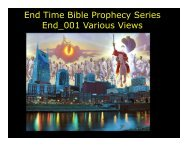 end time bible prophecy - Congregation Yeshuat Yisrael
