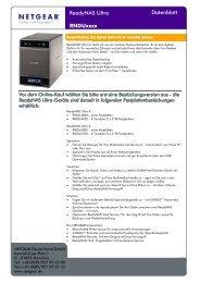 Netgear Produkt PDF ReadyNAS Ultra - Storesys