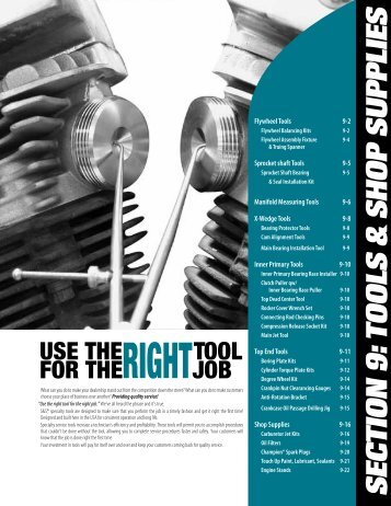 tools and Shop Supplies - S&S Cycle