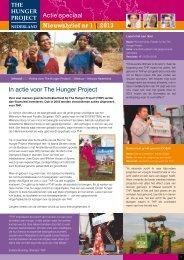 Nieuwsbrief 1 van 2013 - The Hunger Project