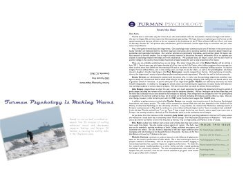 Check out our Homecoming Newsletter! - Furman University