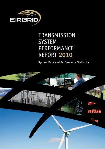 TRANSMISSION SYSTEM PERFORMANCE REPORT 2010 - Eirgrid