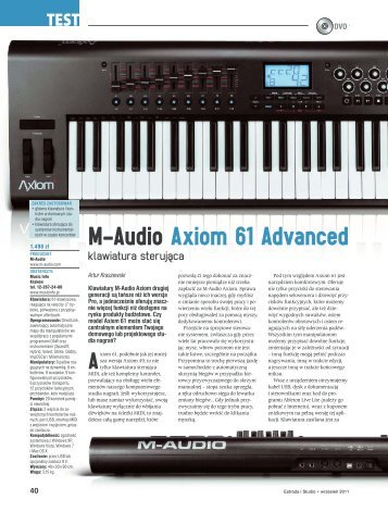 M-AUDIO Axiom 61 V 2 - Music Info