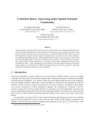 Consistent Query Answering under Spatial Semantic Constraints