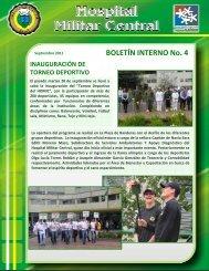 BOLETÍN INTERNO No. 4 - Hospital Militar
