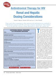 Renal and Hepatic Dosing Considerations