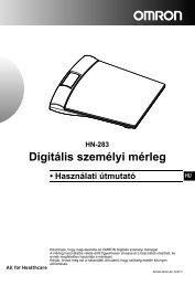 HN-283 Digitális személyi mérleg - Omron Healthcare