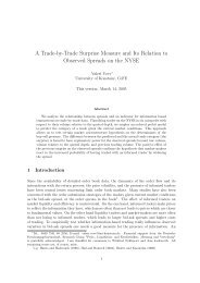 A Trade-by-Trade Surprise Measure and Its Relation to Observed ...