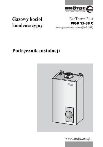 Gazowy kocioł kondensacyjny Podręcznik instalacji - BIMs PLUS