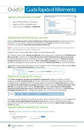 OvidSP Guida Rapida di Riferimento - the Ovid Resource Center