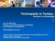 Technoparks in Tunisia : - International Unit