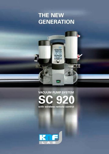 the new generation vacuum pump system sc 920 - KNF
