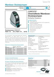 Membran-Dosierpumpen - KNF