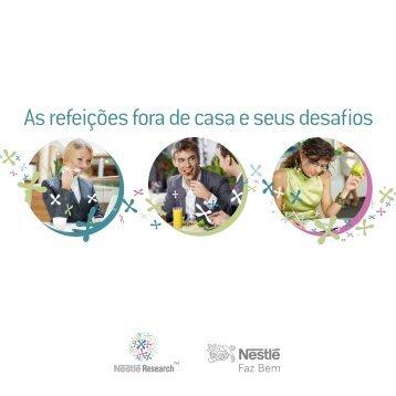 As refeições fora de casa e seus desafios - Nestlé