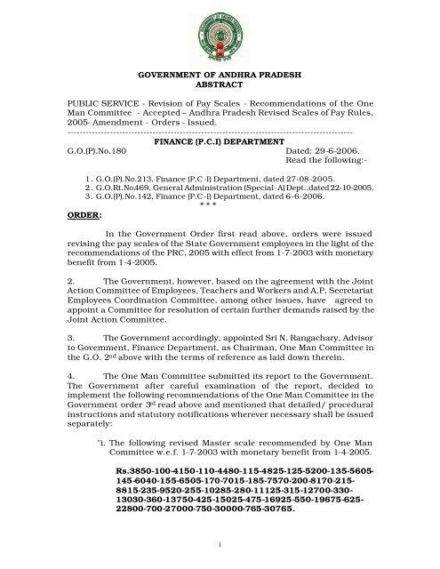 G O  (P)  No  180 Finance (PC I) - Seri ap gov in