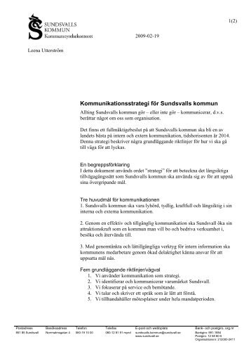 Kommunikationsstrategi för Sundsvalls kommun