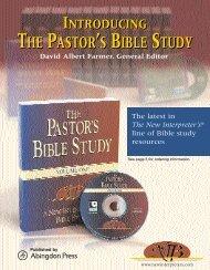 the pastor's bible study the pastor's bible study - Cokesbury