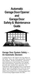 Automatic Garage Door Opener and Garage Door Safety ...