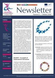Download newsletter numero 1 (Ottobre 2010) - Galaxies