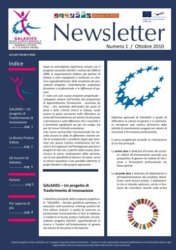 Download newsletter numero 1 (Ottobre 2010) - Galaxies