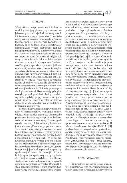 Rozprawy Naukowe 38 - Akademia Wychowania Fizycznego we ...