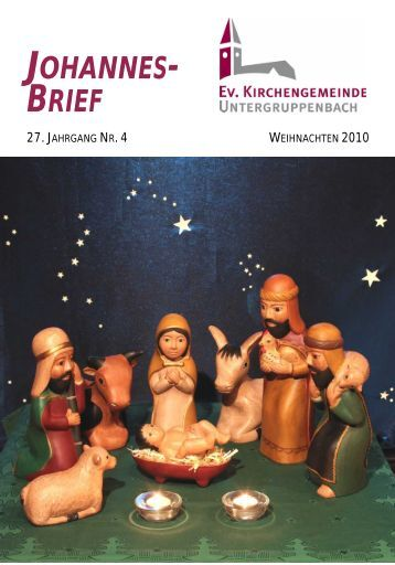 Weihnachten 2010 - Evangelische Kirchengemeinde ...